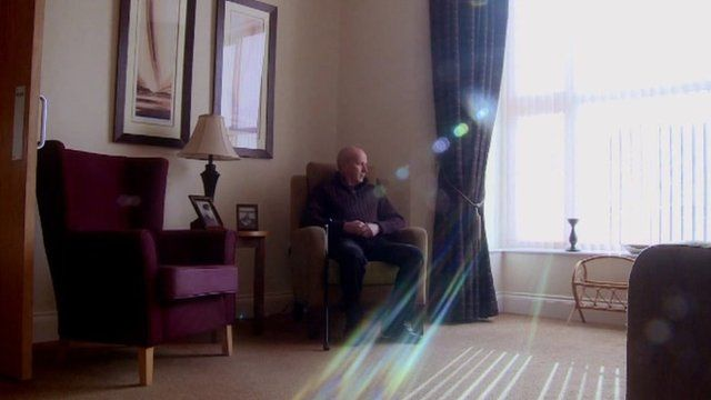 Chris Roberts in the care home