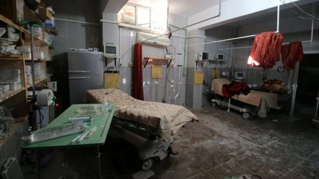 بمباران بیمارستان در حلب با واکنش های زیادی روبرو شده است