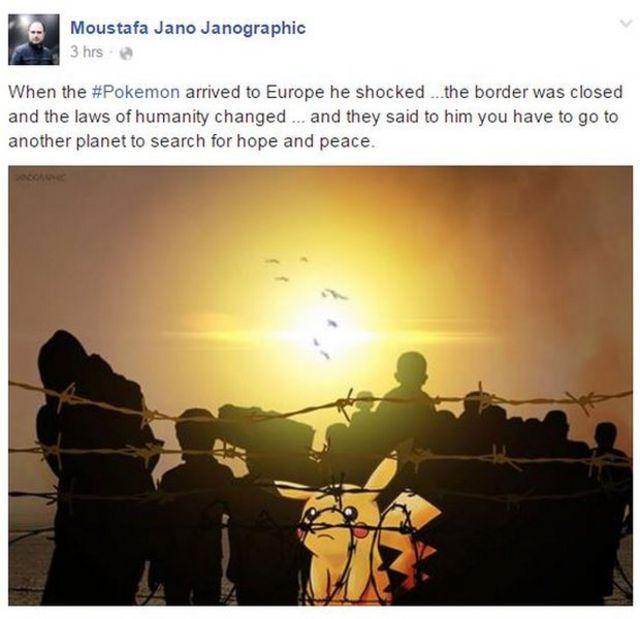 「欧州に到着したポケモンはショックを受けた。国境が閉ざされ、人権法は書き換えられていたのだ……そして、希望と平和は別の星で探せ、と告げられた」