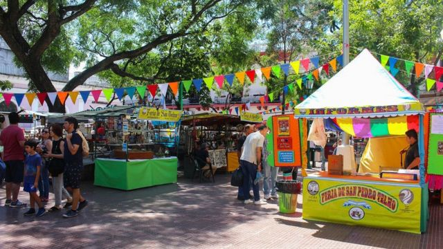 The San Telmo Fair is an antique fair that takes place every Sunday in the City of Buenos Aires.