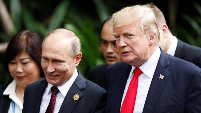 File photo: Donald Trump na Vladimir Putin in 2017