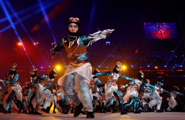 حرکاتی نمایشی مراسم افتتاحیه المپیک زمستانی