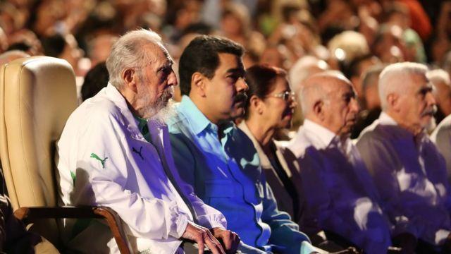 Castro junto al presidente de Venezuela, Nicolás Maduro