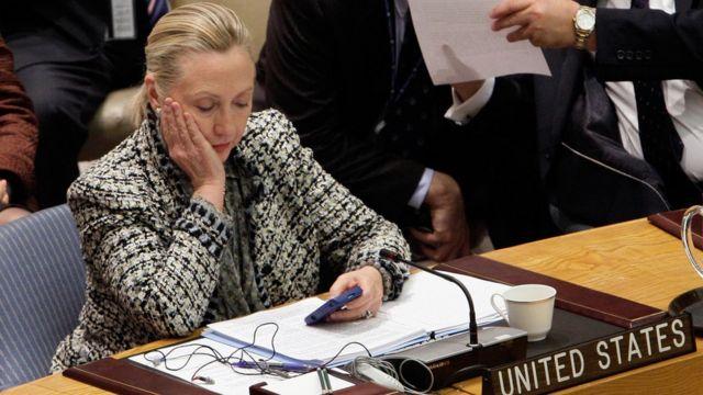 Hillary Clinton cuando era secretaria de Estado