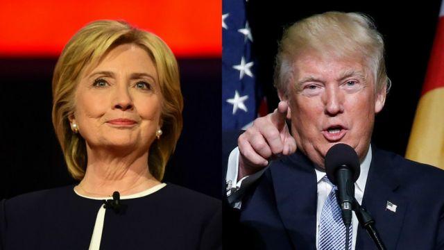 Clinton e Trump vão se enfrentar nas eleições presidenciais dos EUA, que acontecem no dia 8 de novembro.