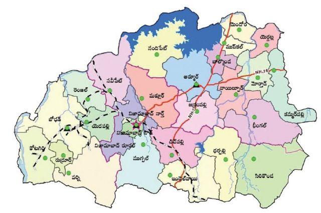 నిజామాబాద్ జిల్లా మ్యాప్