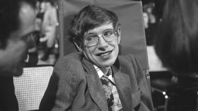 Stephen Hawking en 1979 en Estados Unidos.