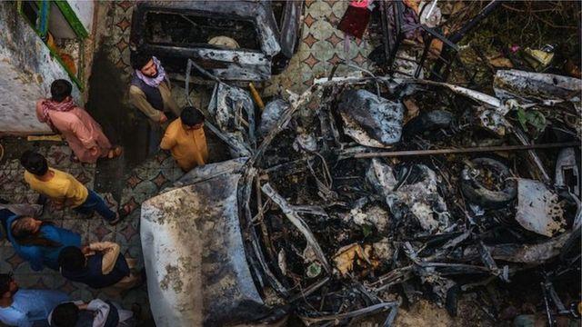 ABD'nin Kabil'de düzenlediği İHA saldırısının hedefi olan araç