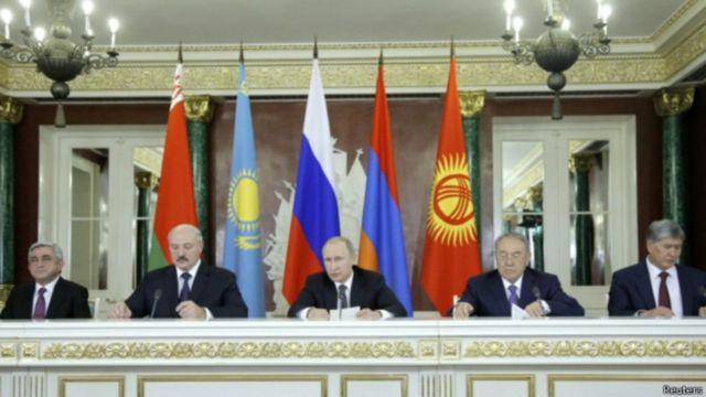رهبران کشور های اتحادیه اقتصادی اوروآسیا