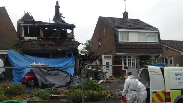 Derbyshire explosion: Female victim died of stab wounds
