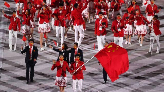 El equipo olímpico chino