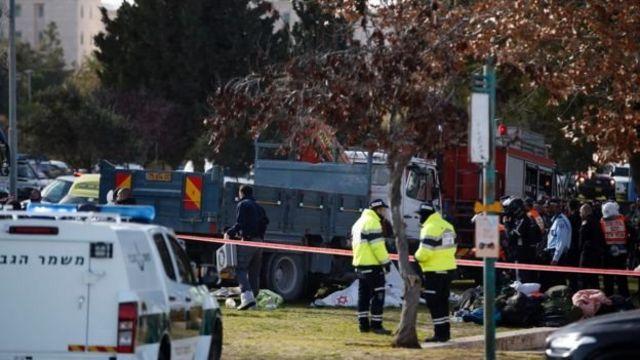 الشرطة الاسرائيلية في موقع الحادث
