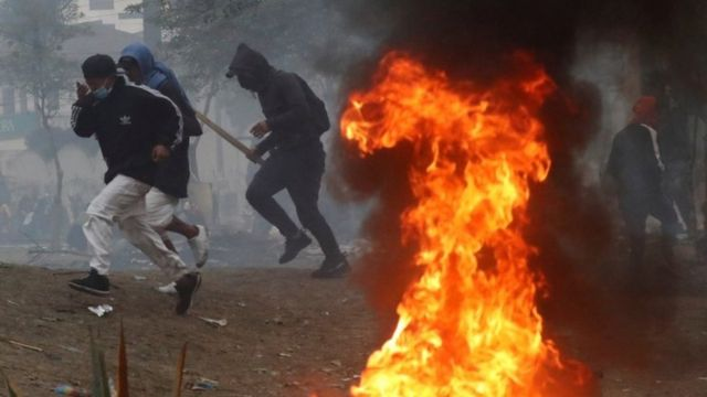 에콰도르 시위대