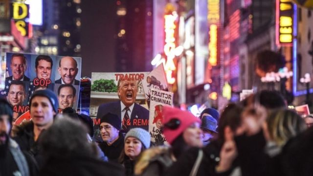 Jajibirin ranar da Majalisar Wakilan Amurka za ta yi kuri'a a kan tsige Trump