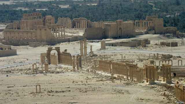 The ancient Temple of Bel at Palmyra, Syria, (13 June 2009)