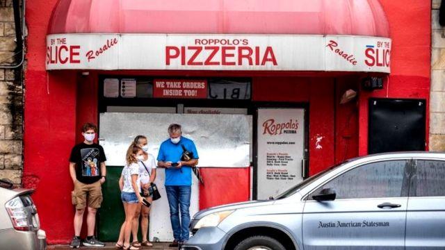 У пиццерии
