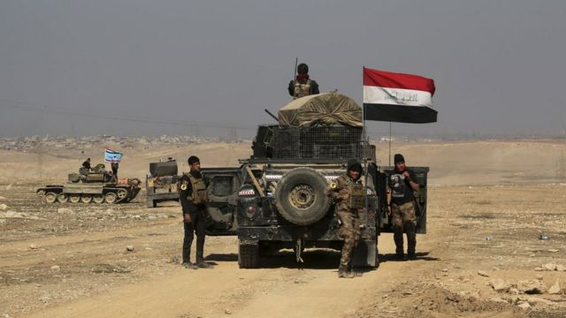 القوات العراقية تتقدم غرب الموصل
