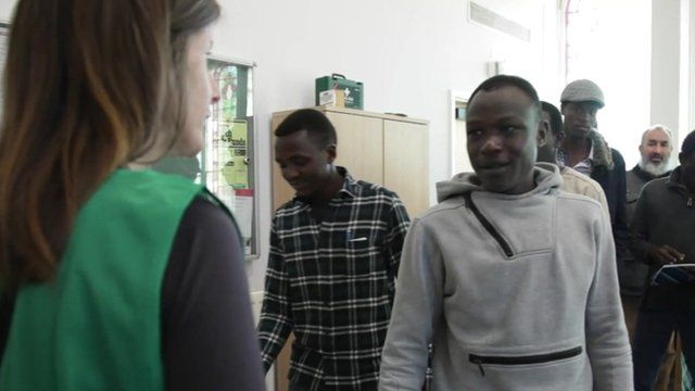 Asylum seekers attend church-run sessions for English lessons