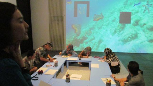 Choi Suk Young: Interactive Sea Drawing