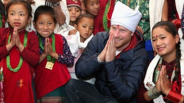Prince Harry visits Gurkha village