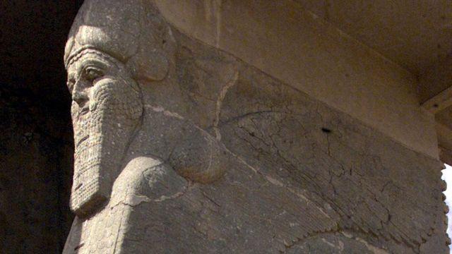 بلدة النمرود التاريخية تقع على مسافة 30 كيلومترا جنوب شرق مدينة الموصل