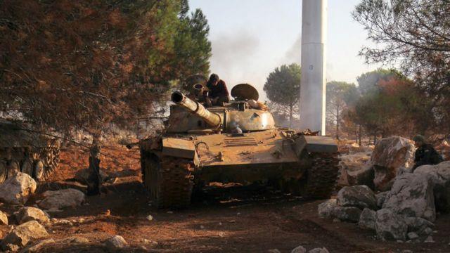 دبابة تابعة لمسلحي المعارضة