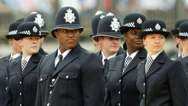 Лондонские полицейские на параде