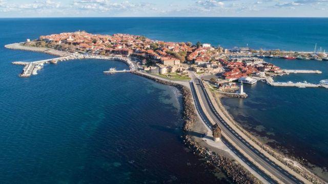 Cidade velha de Nessebar, vista de longe
