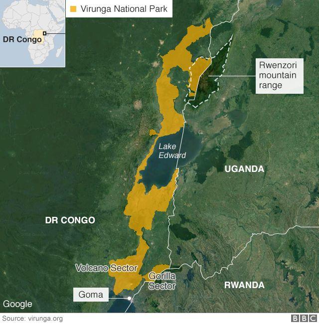 map of Virunga