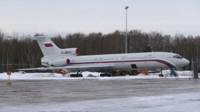 Tu-154 hərbi təyyarəsi 2015-ci il, Moskva yaxınlığındakı hərbi aeroportda görünüb