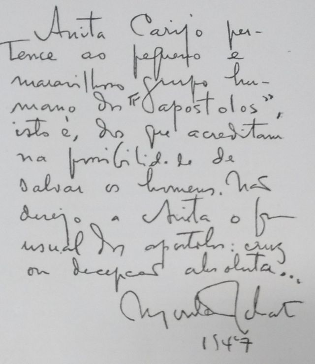 Reprodução de manuscrito de Monteiro Lobato
