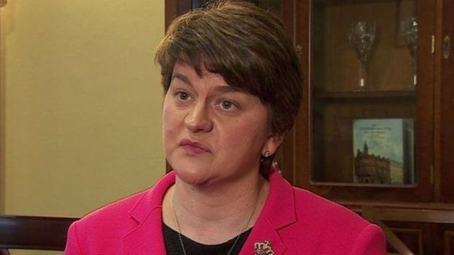 Arlene Foster said it was important to establish the facts around the parade on the Ormeau Road in south Belfast