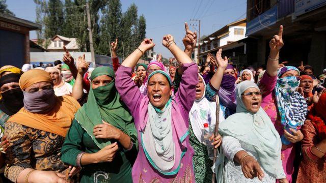 श्रीनगर में महिलाओं का प्रदर्शन (फाइल फोटो)