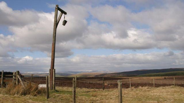 Виселица на северо-востоке Англии