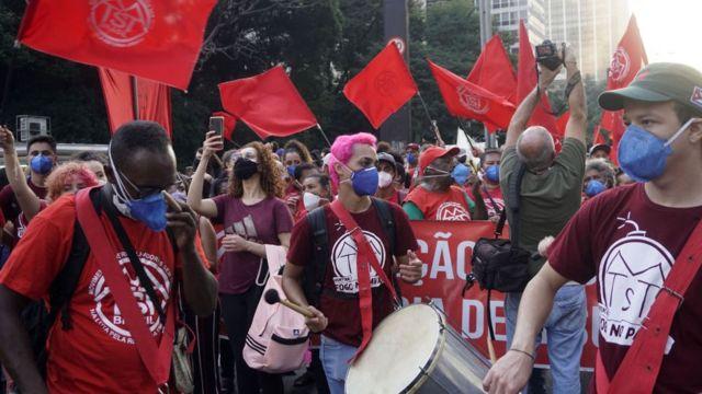 Protesto anti-Bolsonaro em São Paulo