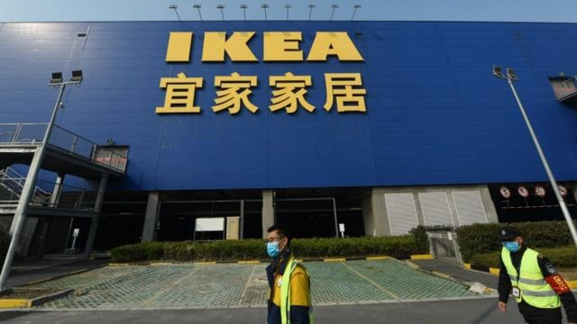 La vitrine IKEA à Hangzhou, en Chine