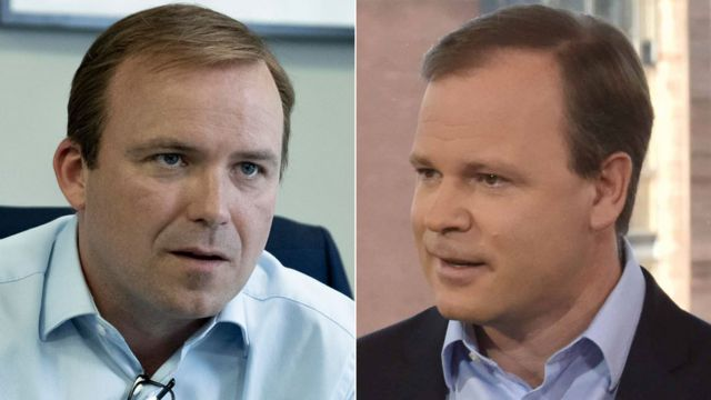 Rory Kinnear as Craig Oliver and Oliver himself in 2016