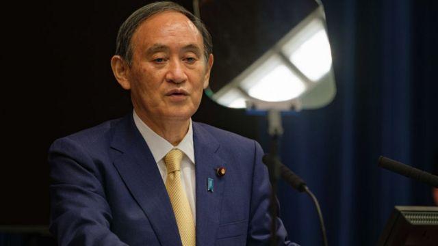 El primer ministro Yoshihide Suga