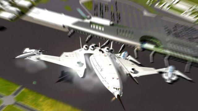 Flash Falcon сможет взлетать и приземляться вертикально за счет двигателей с отклоняемым вектором тяги