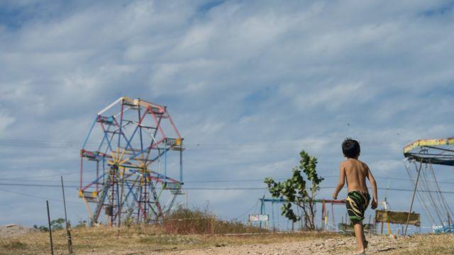 Parque e criança em Fortaleza