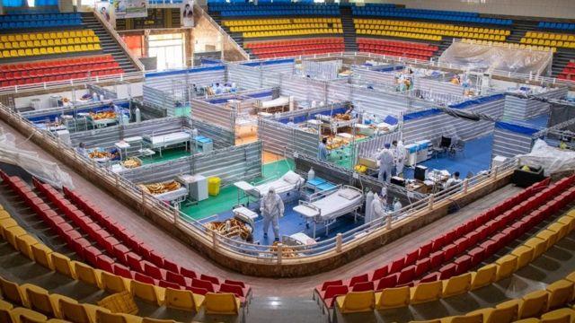بیمارستان در ورزشگاه شیراز