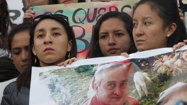 Manifestación pidiendo la libertad de los secuestrados.