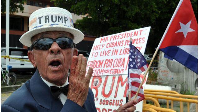 Simpatizante de Trump em Miami, em foto de 2017
