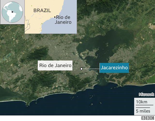 Location of the clashes in Jacarezinho, Rio