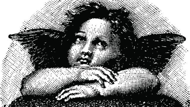El dibujo de un querubín