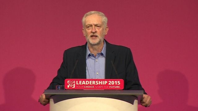 Jeremy Corbyn at special Labour conference