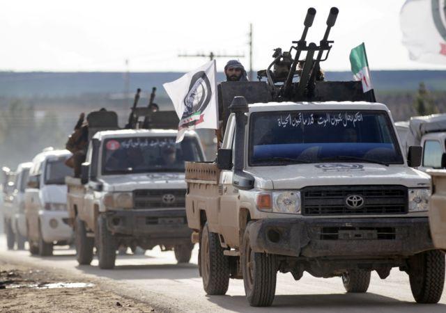 قوات من المعارضة السورية في ريف منبج