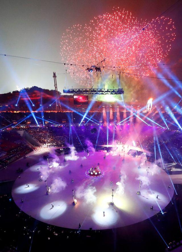 مراسم افتتاحیه المپیک زمستانی در ورزشگاهی بدون سقف