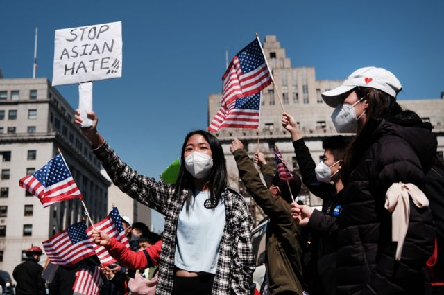 Anti Asian Hate Crime protest