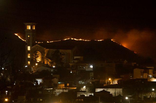 Los incendios en La Falda, Córdoba